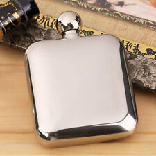 WHISKEY POCKET HIP FLASK WINE LIQUOR ALCOHOL DRINK BOTTLE With FUNNEL HOLDER