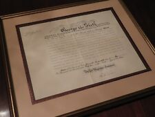 King George VI - WWII-Dated Document Signed - Appoints Diplomat to Neutral Power