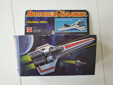 Battlestar Galactica Colonial Viper Firing Missle Mattel 1978 with box Vintage