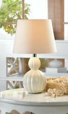 Pair of (2) Charlotte TABLE LAMP DORM Baby BEDROOM FABRIC SHADE Ceramic NEW SALE