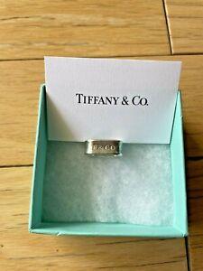 Tiffany & Co. 1837 Square Ring 925 Sterling Silver Size 5.5 Rare