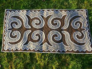 132 x 65cm Filz Teppich Shirdak Schirdak Shyrdak Kyrgyzistan tappeto rug Kilim