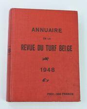 Annuaire de la Revue du Turf Belge 1948 (course cheval équitation