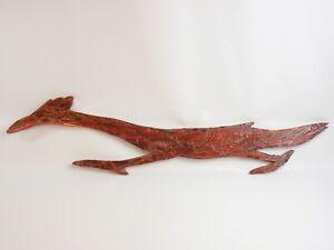 """Road Runner Original Flavia Weedn Wood Cutout Folk Art 1960s Red Vintage 30"""""""