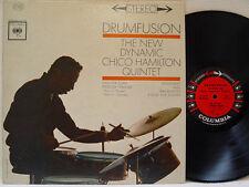 """CHICO HAMILTON - Drumfusion LP (1st US Press on """"6 Eye"""" COLUMBIA w/Gabor Szabo)"""