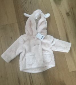 Next Baby Fleece Jacket For Girls. 9-12mths. Pale Pink. BNWT, RRP £17