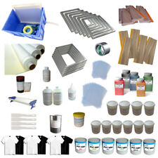 6 Color Start Hobby Kit Screen Printing Materials with Ink Squeegee Screen mesh