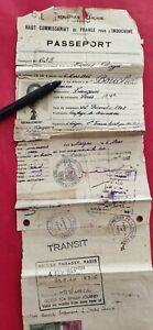 INDOCHINE SAÏGON PASSEPORT 1946 tous pays Voir timbres & cachets feuillets seuls
