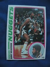 1978-79 Topps Bobby Wilkerson Nuggets card #41 basketball NBA S&H $1