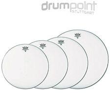 """Remo Propack Fellsatz 10/"""" 12/"""" 14/""""  Pinstripe clear Drumheads Drums Schlagzeug"""