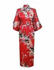 Hot High Qualit Long women lady Girls Bride Kimono Robe satin Night dress Gown-0