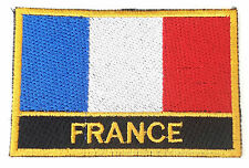 France Embroidered Sew or Iron on Patch Badge