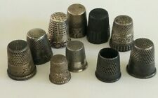 Vintage STERLING Silver THIMBLE Lot of 10 Simmons MDK Scenic