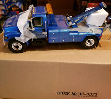 First Gear 1/34 Ford F-650 Blue tow truck model # 19-0033
