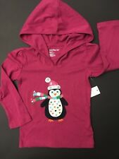 NWT BABY GAP NORTHERN BRIGHTS LINE 3T 3 YEARS GIRLS HOODED TOP TEE T PENGUIN