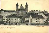 Gruss aus WEINGARTEN um 1900 Strassen Partie Teilansicht Verlag G. Schaal ungel.