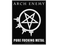 OFFICIAL LICENSED - ARCH ENEMY - PURE F****** METAL WOVEN PATCH DEATH METAL