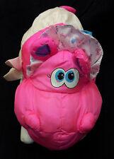 "Puffalump Baby Hippo Big Things Pink White Diaper Fisher Price 6851 Plush 14"""
