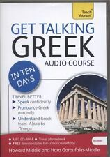 Get Talking Greek Ten Days by Howard Middle & Hara Garoufalia-Middle MP3 CD ROM