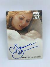Rittenhouse Star Trek Jennifer Morrison Winona Kirk Signed Card Auto Autograph
