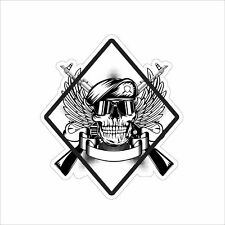New Skull with Crossed Guns Rifle Shotgun Vinyl Decal Car Truck Window Sticker