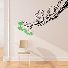 Eichhörnchen Im Baum Wand Aufkleber Kunst Wald Thema Kinder Schlafzimmer Dekor