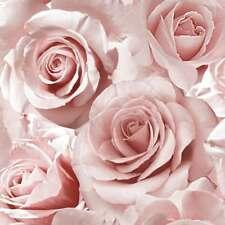 Madison Rose Glitzer Blumen Tapete Zartes Rosa - Muriva 139521 Neu
