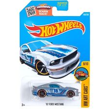 Silver '07 Ford Mustang. Hw Art Cars. Dhx69. New, in Blister Package!