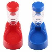 Pet Dog Puppy Cat Automatic Water Dispenser Food Dish Bowl Feeder New Usable~