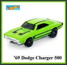 GREEN '69 Dodge Charger Charger 500. 2016 HW 84/250. DHX23. New in Package!