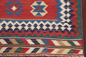 Vintage Flat-woven 5x8 ft Kilim Kashkuli Area Rug Reversible Oriental Hand-woven