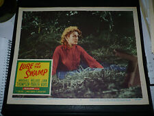 LURE OF THE SWAMP, orig 1957 LC #3 (Joan Vohs has sinking feeling in quicksand)