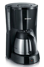 Severin Coffee Maker with Steel Vacuum Jug 1L 1000w Black / Stainless KA4131