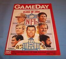 Cleveland Browns vs Chicago Bears 1990 Game Program Magazine HOF Yearbook