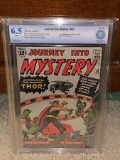 Journey Into Mystery #83 CBCS 6.5 1st Thor! WP 1962 Free CGC sized mylar! K10 cm