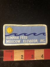 Vtg SUNRISE FEED MOSCOW ELEVATOR INC. Farmer Related Advertising Patch 80XF