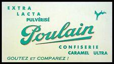Buvard Publicitaire, POULAIN - Extra, lacta, pulvérisé - Confiserie - Caramel