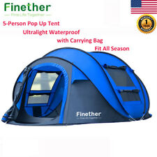 5-Person Instant Pop Up 4 Season Tent Camping Hiking Waterproof Family Tent+Bag