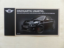 Mini JCW John Cooper Works Coupe Edition Playboy - Prospekt Brochure 2014