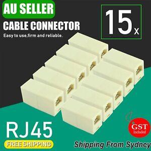 15x RJ45 Coupler Cat6 Cat5e Ethernet Cable Extender Joiner LAN Adapter Connector