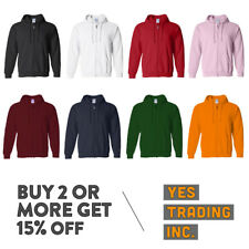 MEN'S WOMEN'S PLAIN FULL ZIPPER HOODIE CASUAL ZIP UP JACKET HOODED JACKET WARM