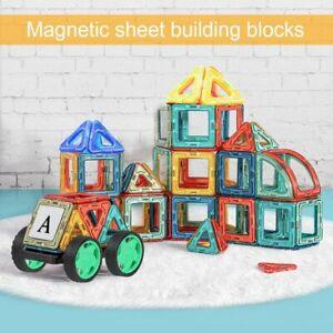 105 pcs Kids DIY 3D Magnetic Blocks Multicolour Construction Building Toy Puzzle