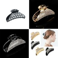 Hair Luxury Headwear Hairpin Large Clip Crystal Women Claw Rhinestone