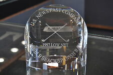 1997 Tiffany & Co. Cystal Paperweight U.S. News Pebble Beach/Spanish Bay Golf