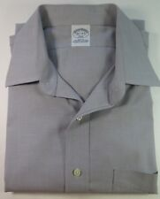 Brooks Brothers Cotton Non-Iron Stretch Gray Slim Fit Dress Shirt 16 1/2 x 34/35