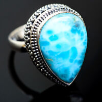 Larimar 925 Sterling Silver Ring Size 7.25 Ana Co Jewelry R993939F