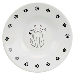 24651 Trixie SHALLOW Ceramic Cat Bowl Food / Water Cats Dish