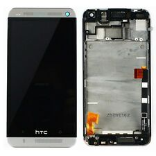 LCD+Digitizer Touch Screen Panel Assembly With Frame for HTC One M7 Silver 801e