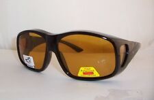X - LARGE SIZE POLARIZED FIT GLASSES  FOR OVER YOUR RX LOW VISION YELLOW LENS