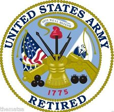 ARMY RETIRED MILITARY SEAL HELMET CAR BUMPER DECAL STICKER MADE IN USA
